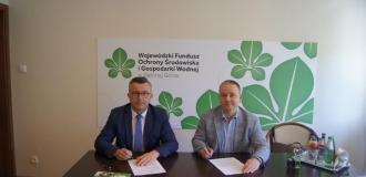 Podpisanie umowy o dofinansowanie dla Przedsiębiorstwa Usług Komunalnych USKOM Sp. z o.o.
