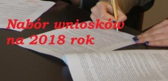 NABÓR WNIOSKÓW NA 2018 ROK!