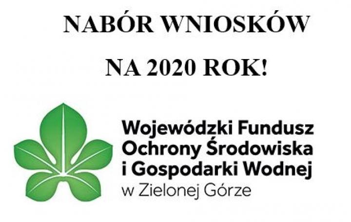 NABÓR WNIOSKÓW NA 2020 ROK!