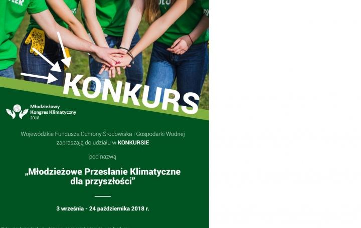 """KONKURS """"Młodzieżowe Przesłanie Klimatyczne dla przyszłości"""""""